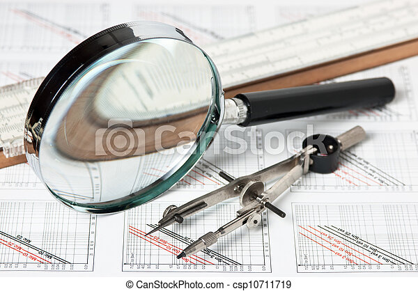 técnico, ingeniería, herramientas, dibujo - csp10711719
