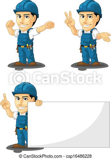 técnico, reparador, o, 7, mascota - csp16486228