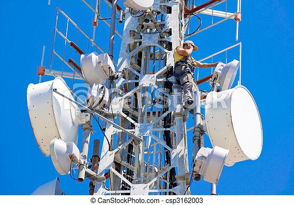 télécommunications, homme - csp3162003