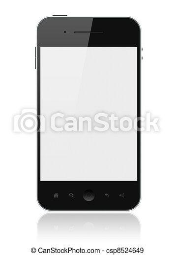 téléphone, écran, isolé, intelligent, vide - csp8524649