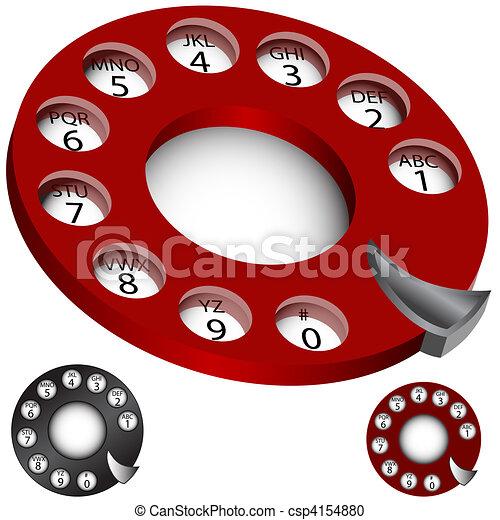 téléphone, cadran, ensemble, rotatif - csp4154880