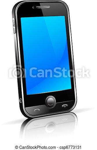 téléphone, cellule, intelligent, 3d, mobile - csp6773131