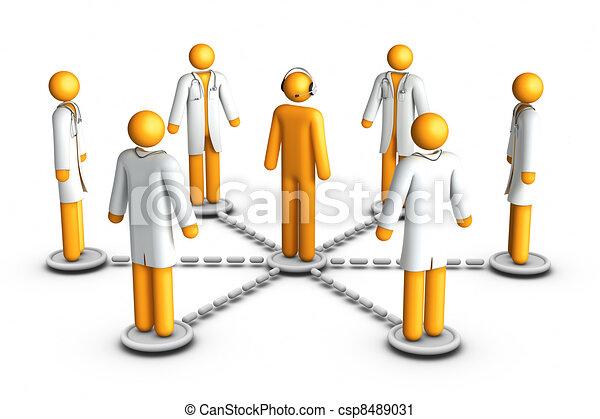 téléphone, centre, healthcare - csp8489031