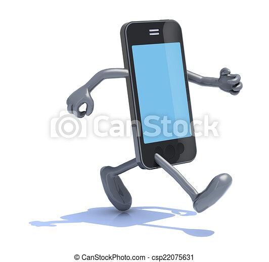 téléphone, courses, intelligent - csp22075631