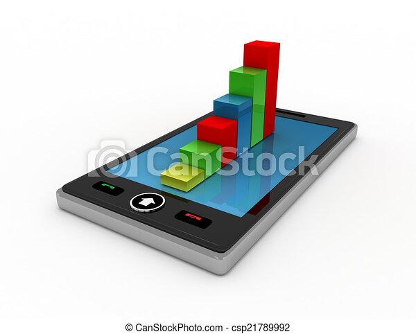 téléphone, fond blanc - csp21789992