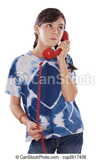 téléphone, girl - csp2617438