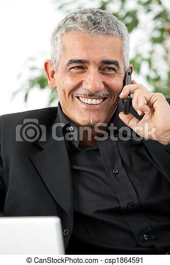 téléphone, homme, appeler - csp1864591