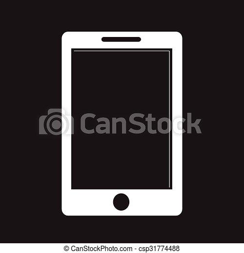téléphone, icône - csp31774488