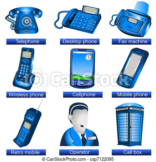 téléphone, icônes - csp7122095