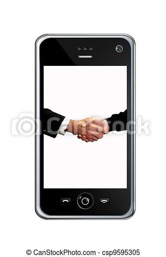 téléphone, intelligent - csp9595305