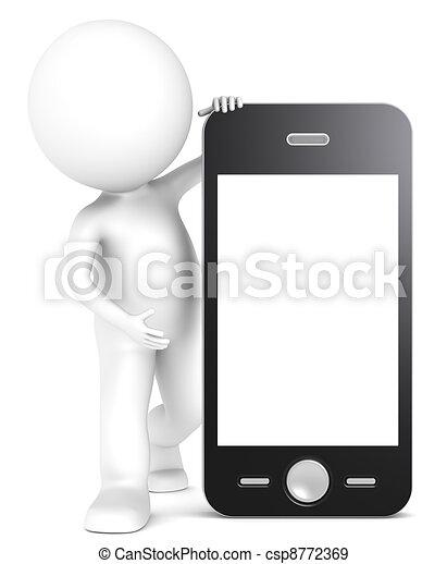 téléphone., intelligent - csp8772369