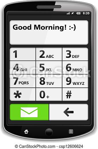 téléphone, intelligent - csp12606624