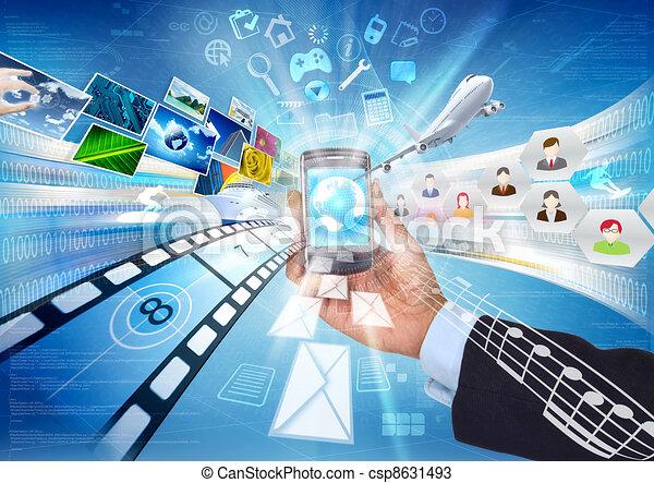 téléphone, intelligent, internet - csp8631493