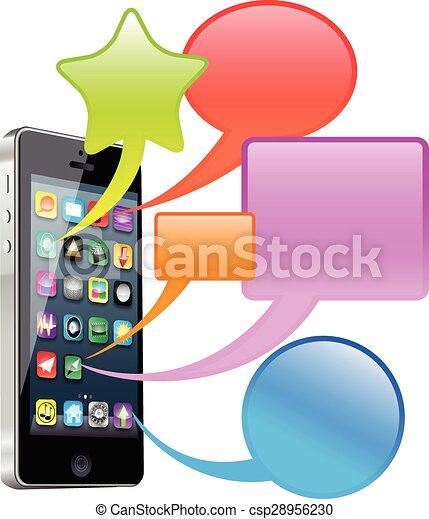 téléphone, intelligent - csp28956230