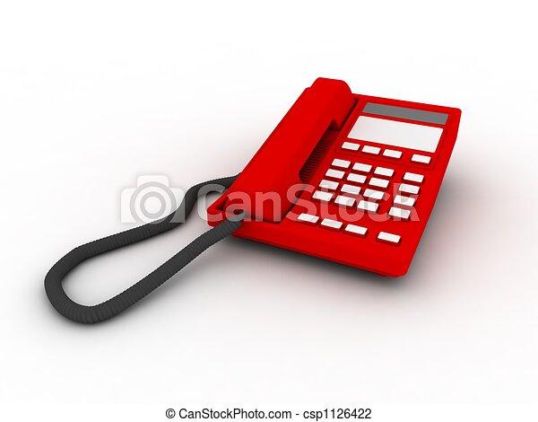 téléphone, isolé, rouges - csp1126422