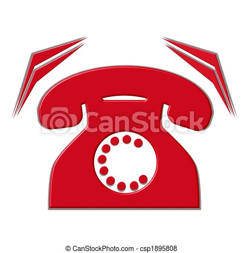 téléphone, isolé, sonner - csp1895808