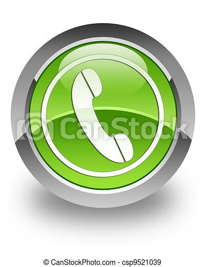 téléphone, lustré, icône - csp9521039