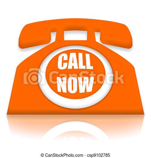téléphone, maintenant, appeler - csp9102785