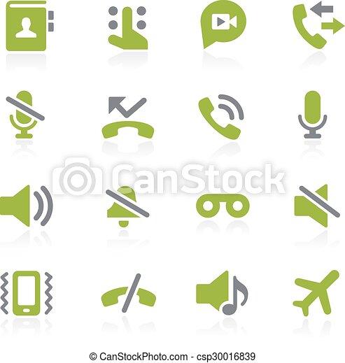 téléphone, natura, appelle, interface. - csp30016839