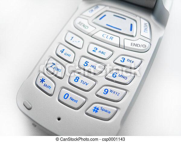 téléphone portable, boutons - csp0001143