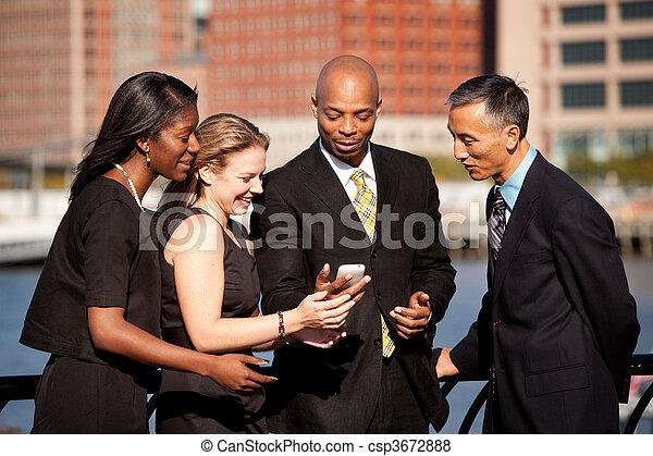 téléphone portable, business - csp3672888