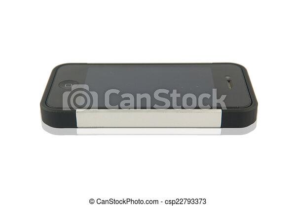téléphone portable, fond blanc - csp22793373
