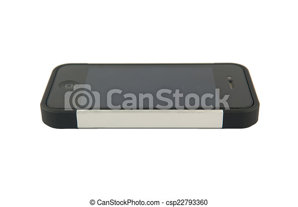 téléphone portable, fond blanc - csp22793360