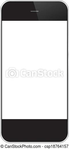 téléphone portable, isolé, business - csp18764157