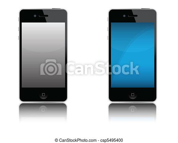 téléphone portable, moderne - csp5495400