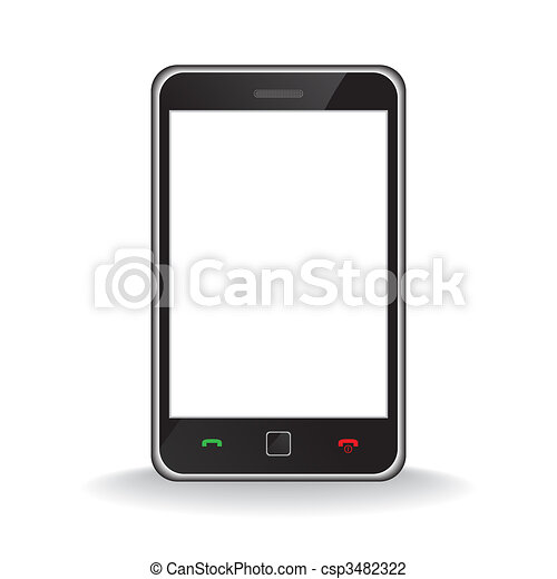 téléphone portable, moderne, intelligent - csp3482322