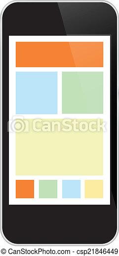 téléphone portable, noir - csp21846449