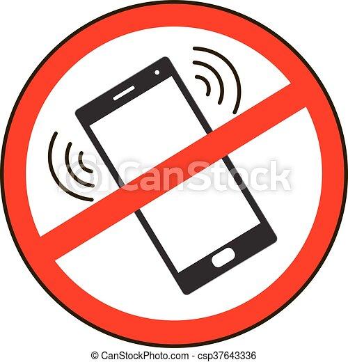 t l phone portable prohibited non mobile isol signe t l phone portable fond blanc. Black Bedroom Furniture Sets. Home Design Ideas