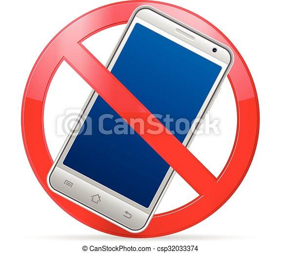 téléphone portable, prohibition - csp32033374