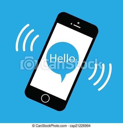 téléphone portable, sonner - csp21226994