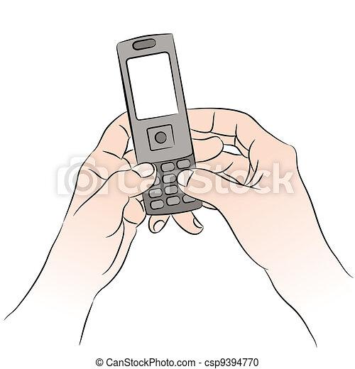 téléphone portable, texting - csp9394770