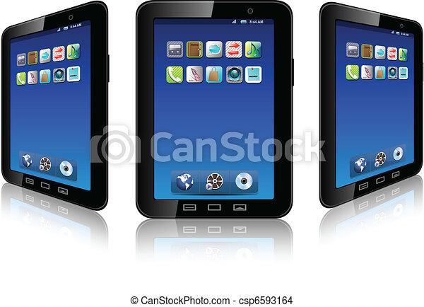 téléphone portable, vector. - csp6593164