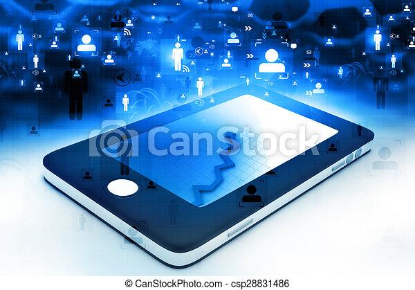 téléphone, réseau, intelligent, communication - csp28831486