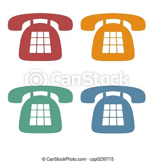 téléphone, retro, icônes - csp0230715