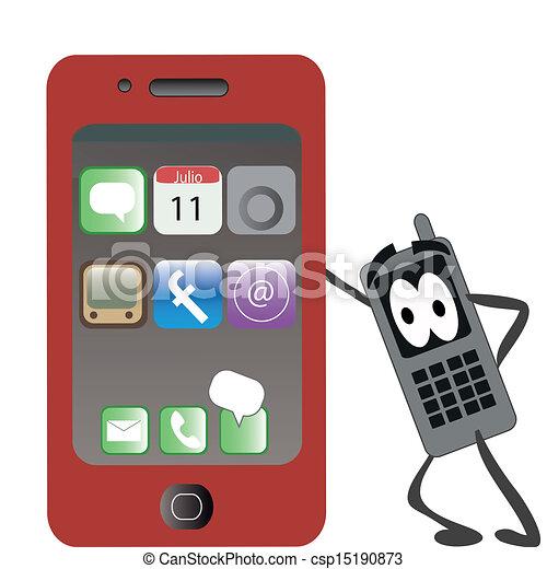 téléphone, rouges - csp15190873