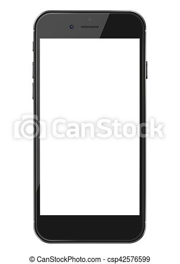 téléphone, screen., intelligent, vide - csp42576599