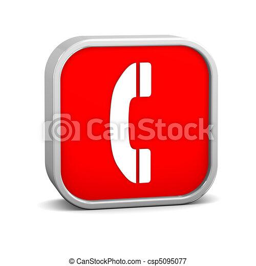 téléphone, signe - csp5095077