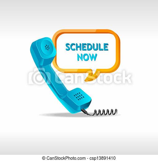 téléphone, vecteur, récepteur - csp13891410