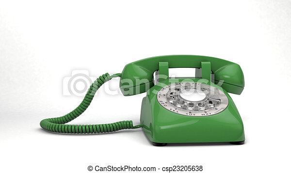 téléphone, vert, isolé - csp23205638