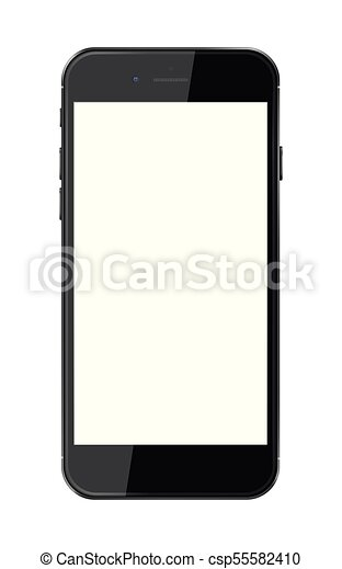 téléphone, vide, screen., intelligent, réaliste - csp55582410