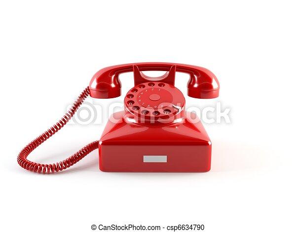 téléphone, vieux - csp6634790