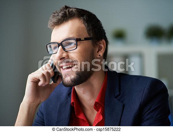 téléphoner, client - csp15875222
