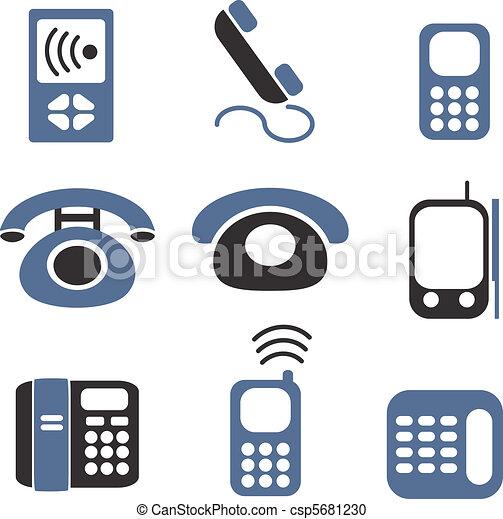 téléphones, signes - csp5681230