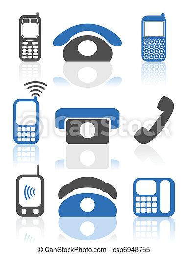 téléphonez icône - csp6948755