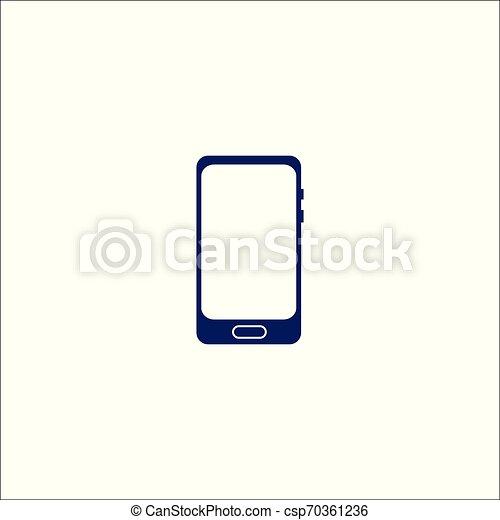 téléphonez icône, isolé, symbole., signe - csp70361236