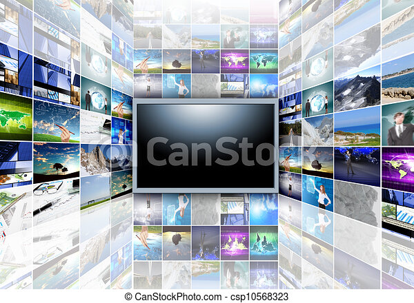 télévision écran plat - csp10568323